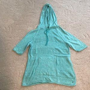 Aqua knit over sweater
